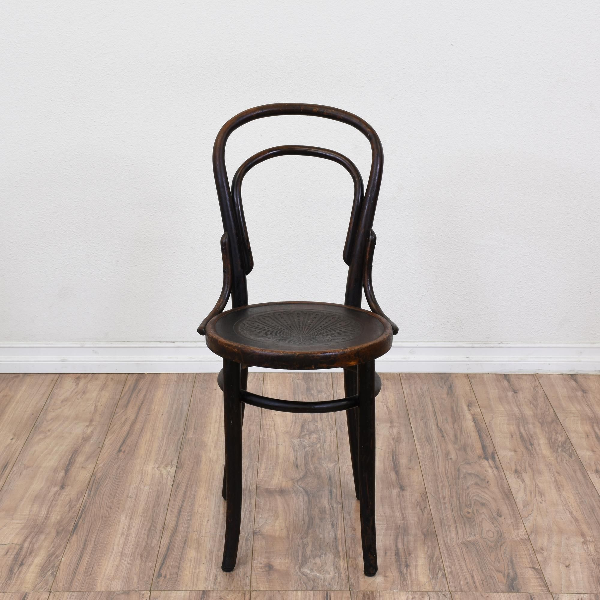 Bentwood chairs domino - Antique Bentwood Chair W Steam Pressed Seat