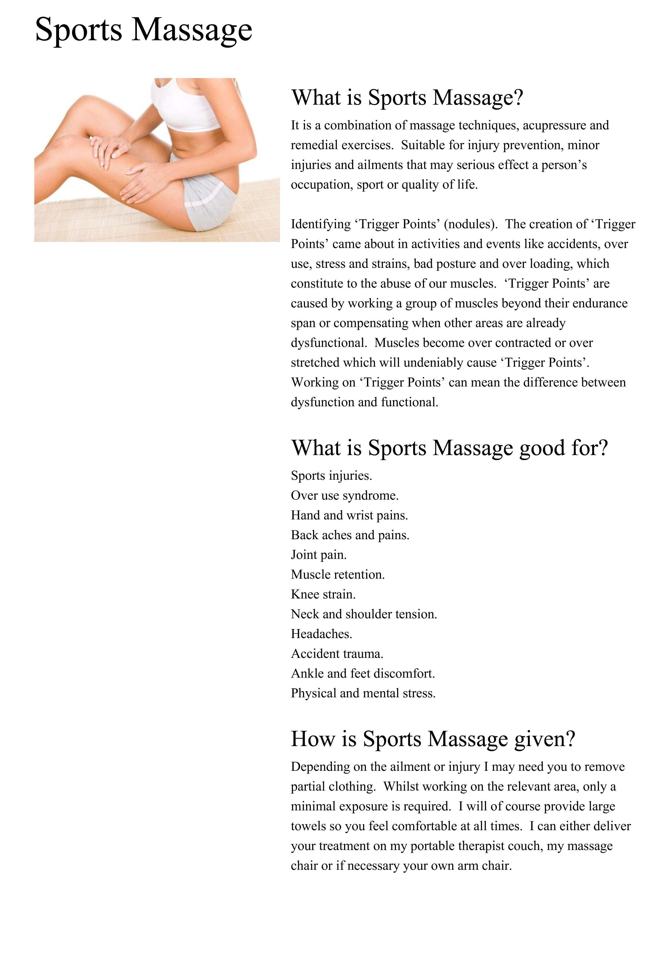 Pin by ConnorsCrusade on Massage Sports massage, Massage