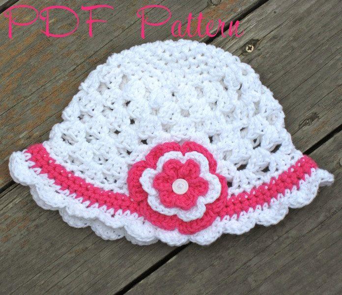 Crochet Hat Pattern Scalloped Edge Sun Hat Instructions To Make