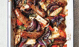 Hollywood legends: Sausage & vegetable bake with mozzarella & sage #hollywoodlegends