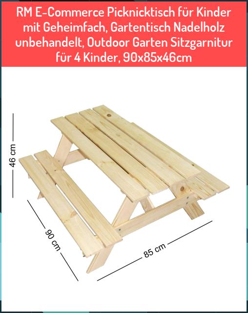 Rm E Commerce Picknicktisch F R Kinder Mit Geheimfach Gartentisch Nadelholz Unbehandelt Outdoor Garten Sitzgarnitur In 2020 Outdoor Outdoor Decor Outdoor Furniture
