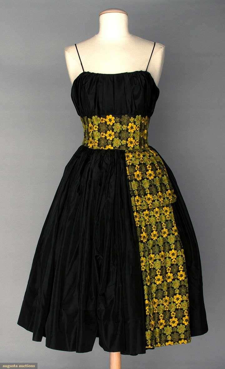 Black party dress mid 1950s augusta auctions april 9