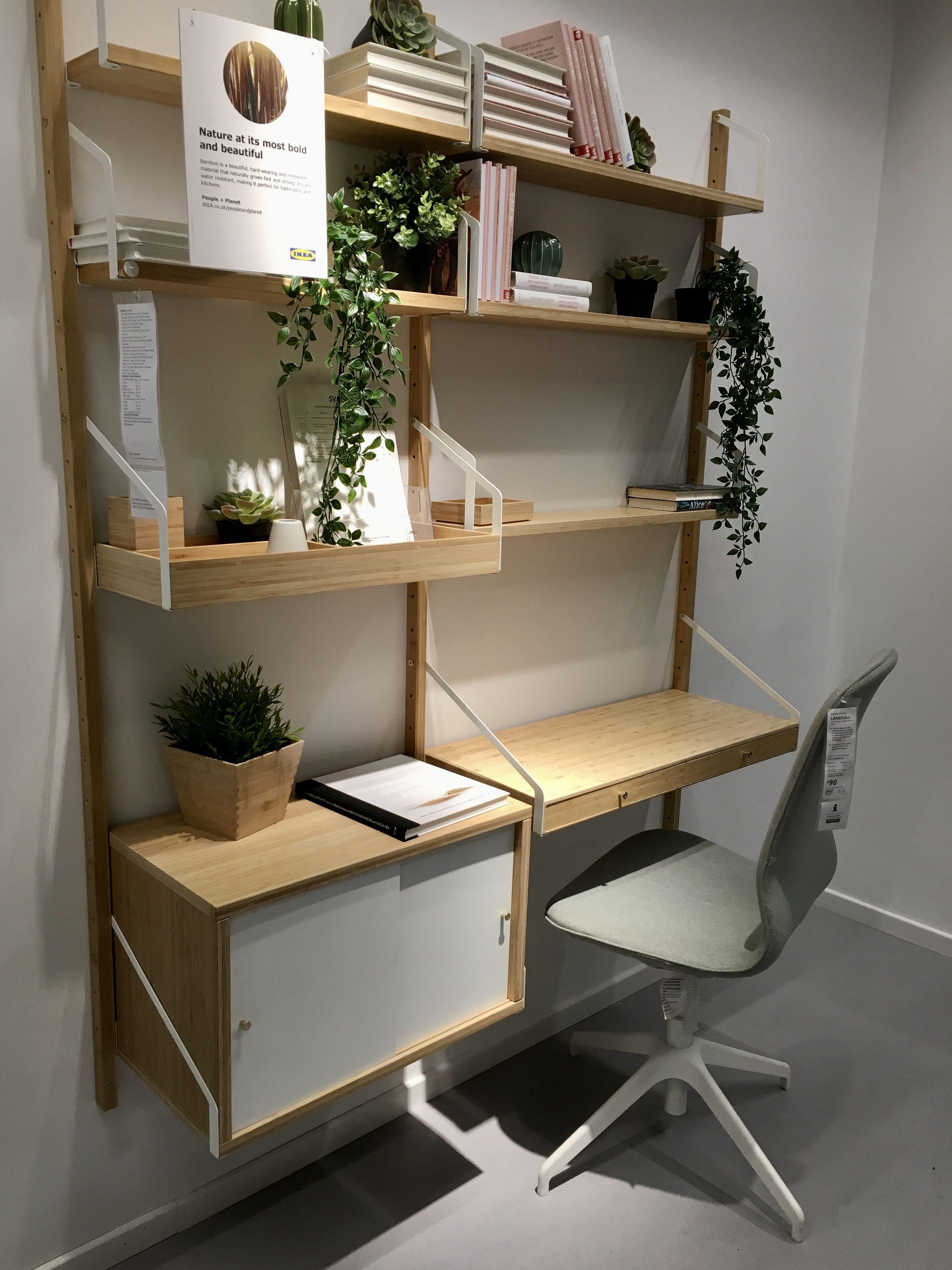Ikea Svalnas Combination Price 260 Svalnas Wall Upright 10 X 3 Svalnas Desk Space 55 X 1 Home Office Furniture Design Home Room Design Guest Room Office