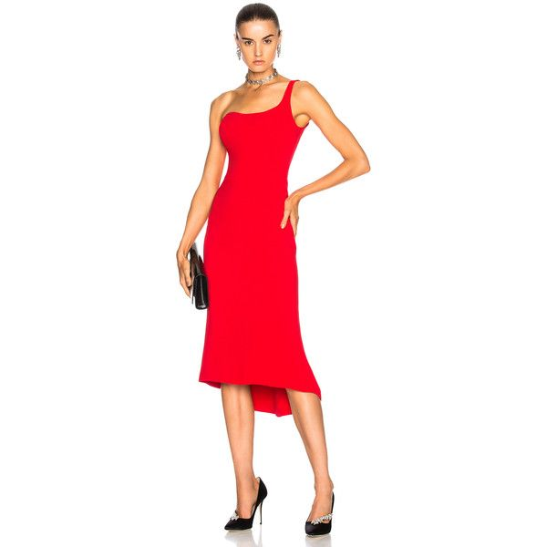 Oscar De La Renta For Fwrd One Shoulder Cocktail Dress 3805