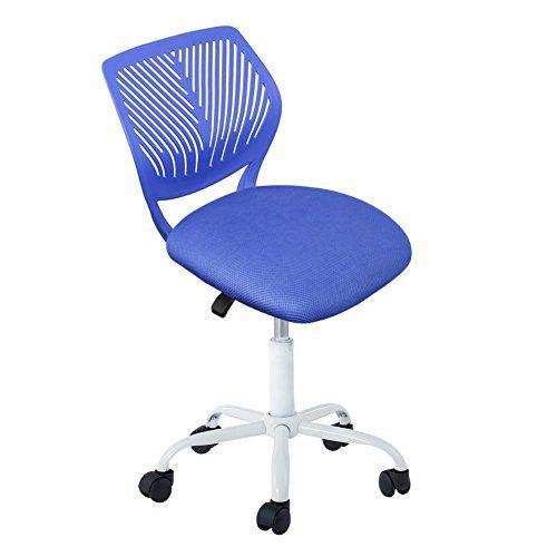 Computer Chair Intimate Wm Heart Mid Back Swivel Office Task Desk Home Kids Study Blue