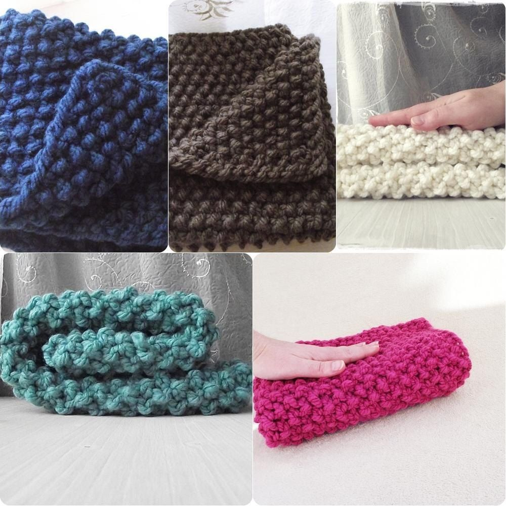 Textured Chunky knit baby blanket Knitting pattern by ...