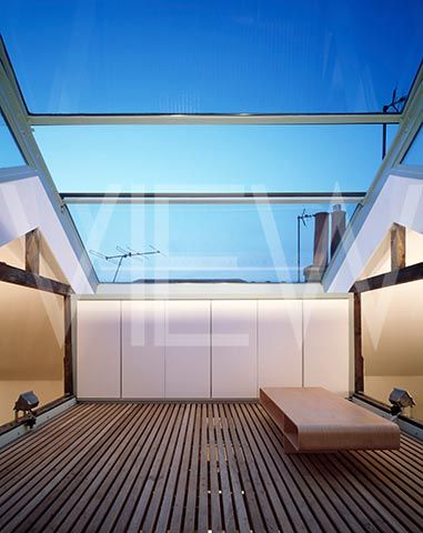 PRIVATE HOUSE COVERED ROOFTOP WITH MOVABLE GLASS ROOF More