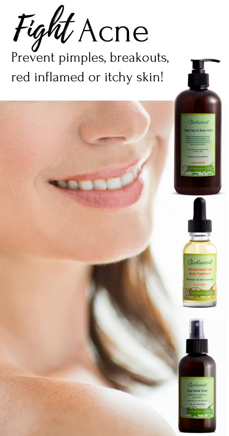 Prevent pimples, breakouts, red inflamed or itchy skin
