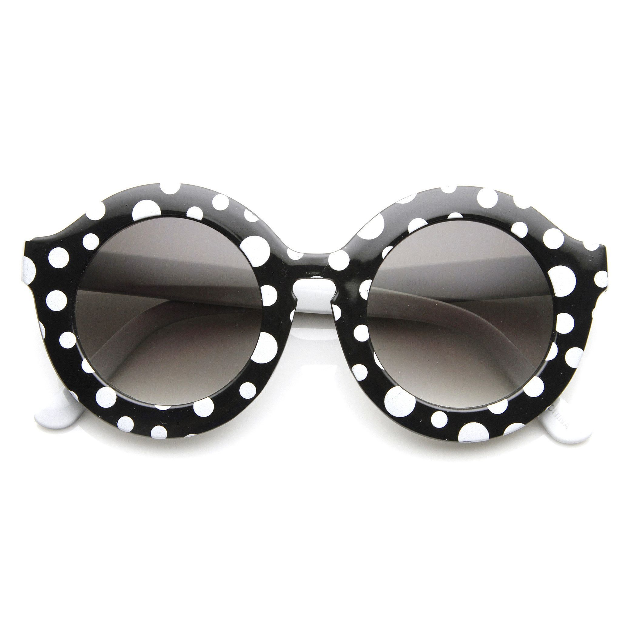 Trendy Womens Fashion Oversize Round Circle Sunglasses 9131 | Damen ...