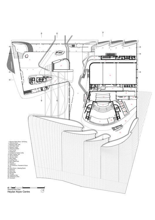 Gallery of heydar aliyev center zaha hadid architects - Architektur plan ...