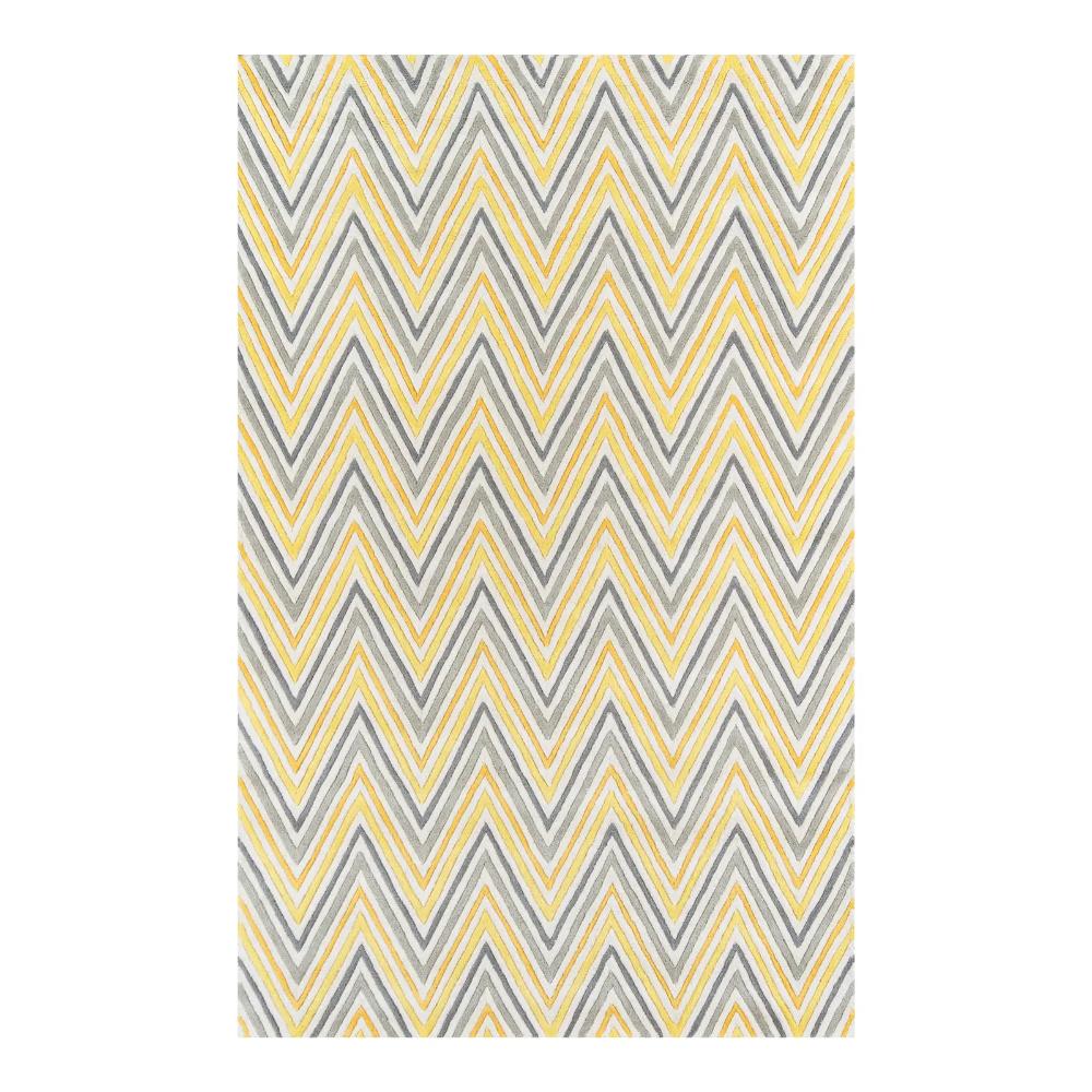 Contemporary Momeni Delhi Hand Tufted Yellow Wool Area Rug 8 X 10 Wool Area Rugs Chevron Area Rugs Yellow Area Rugs