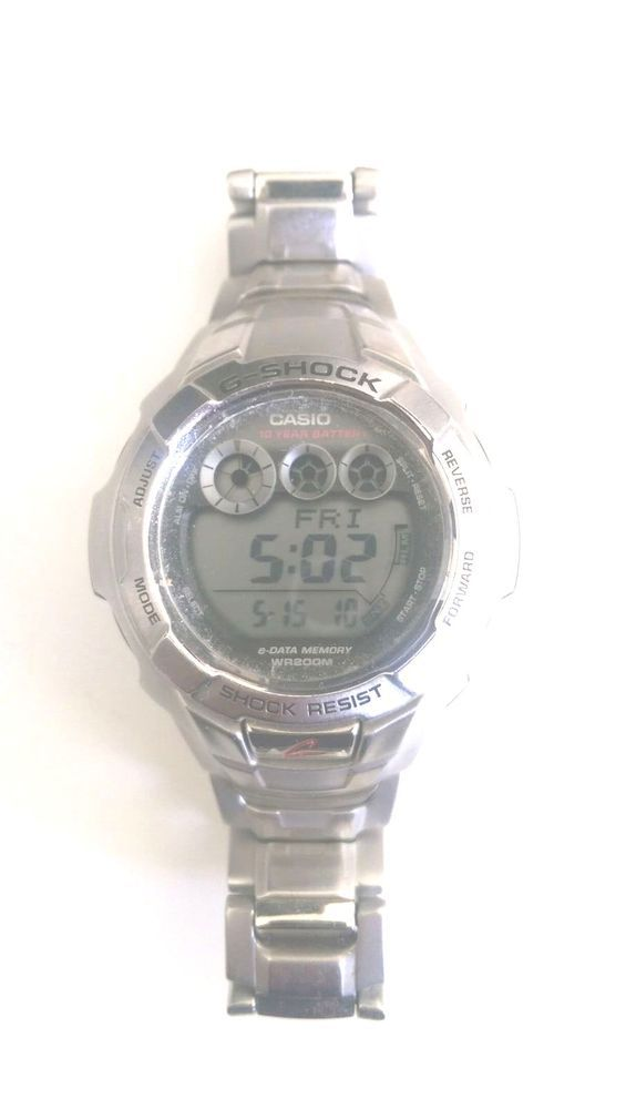 2fa19526e G-Shock Casio Men's 10 Year Battery G7100D-1V Stainless Steel Digital  Display #GShock