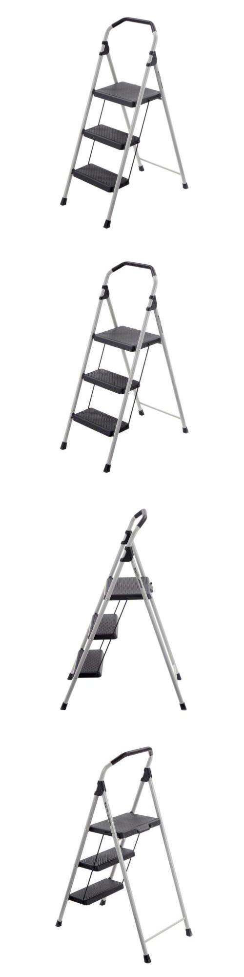 Awe Inspiring Ladders 112567 Gorila Ladders 3 Step Lightweight Steel Step Evergreenethics Interior Chair Design Evergreenethicsorg