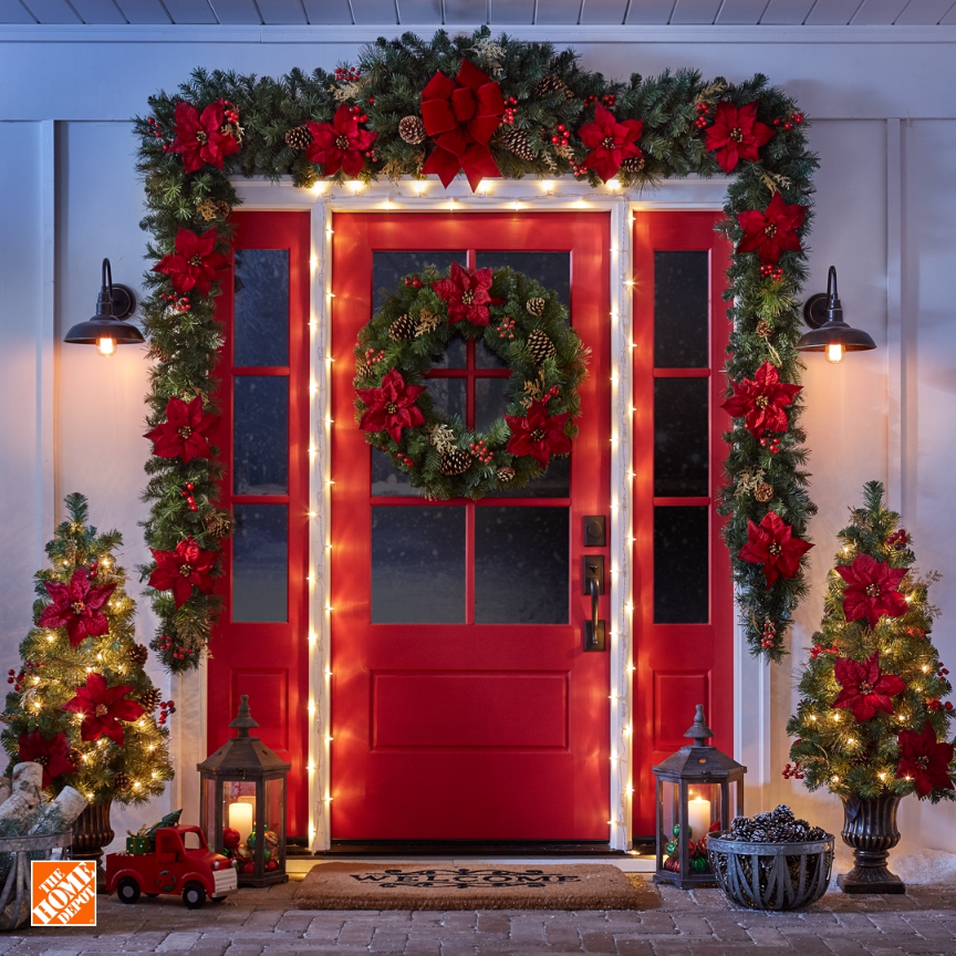 This Is How You Hang Lights To Be Sure Every Welcome Is A Warm One This Holiday Video Christmas Decorations Apartment Diy Christmas Decorations Easy Christmas Lights