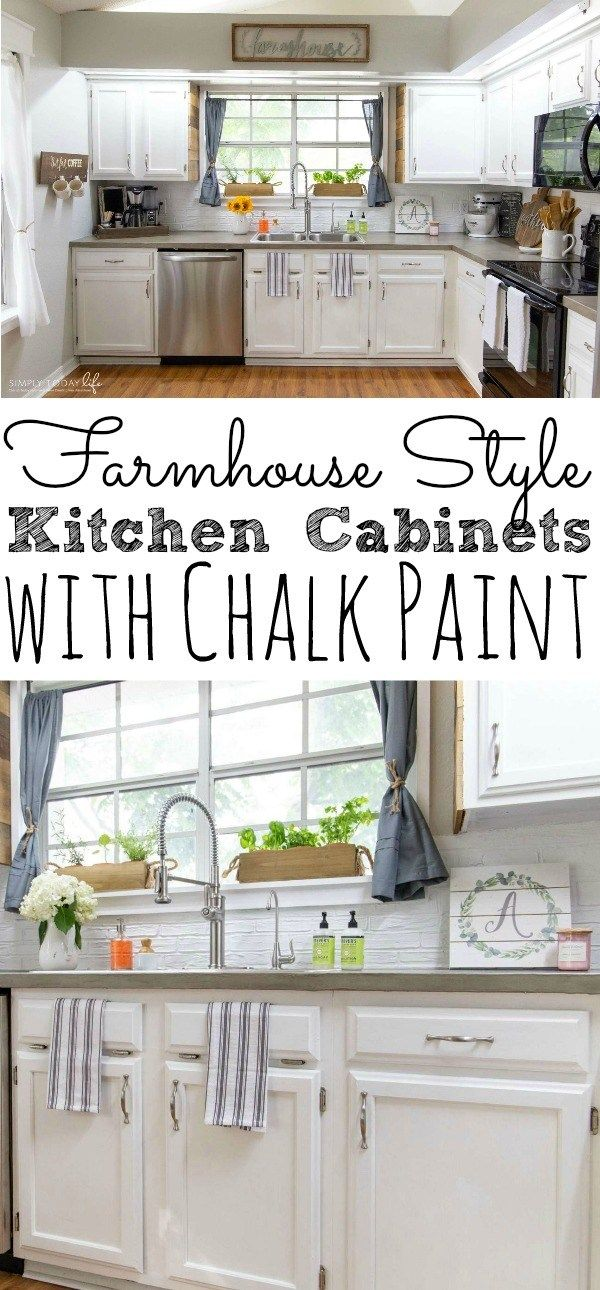 Painting Kitchen Cabinets With Chalk Paint Simply Today Life Chalk Paint Kitchen Cabinets Painting Kitchen Cabinets Kitchen Cabinets Before And After