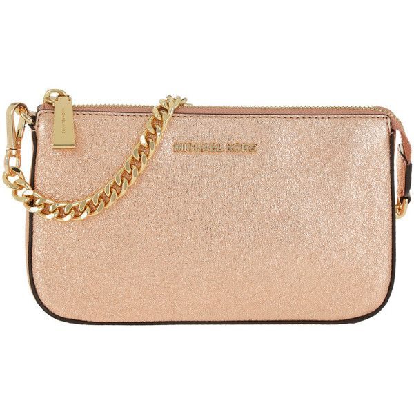 Michael Kors Evening Bag Clutch Md Chain Pouchette Soft Pink In