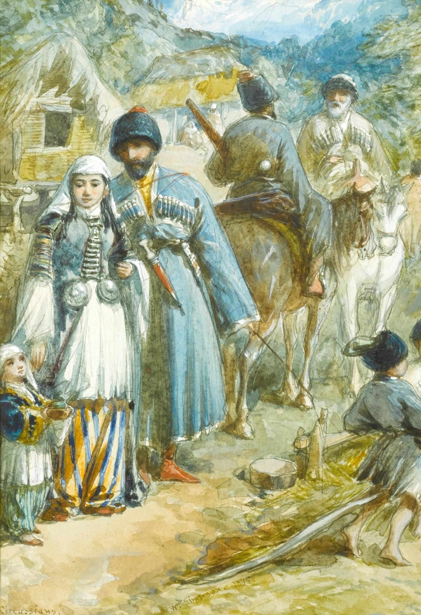 William Simpson (Glasgow 1823 - London 1899), Circassia. Tcherkess of the Soubash.