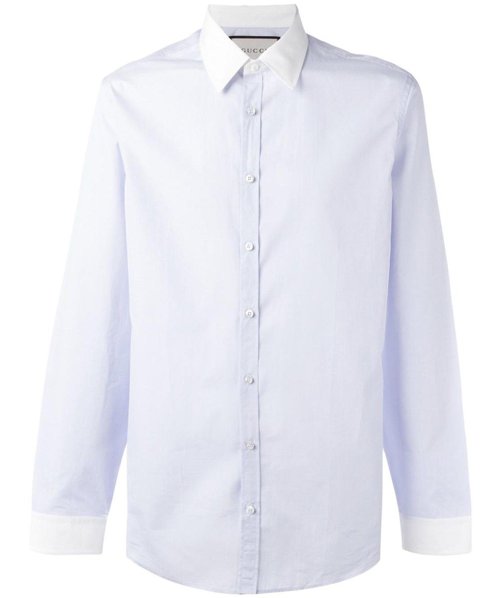 aee7784a382 GUCCI Gucci Men S 456326Z38514914 Light Blue Cotton Shirt .  gucci  cloth  dress  shirts