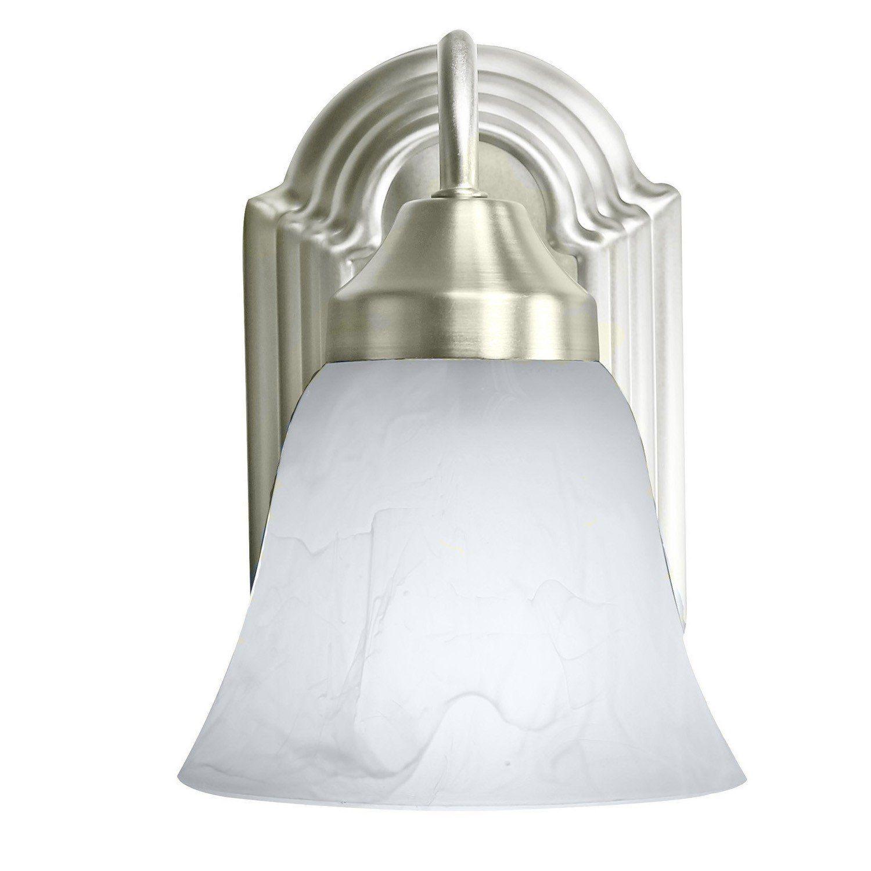 Photo of Benninton 2-pack 620A01BN Luna wall lamp One Light Bar Bath Hall Fixtures, brushed nickel