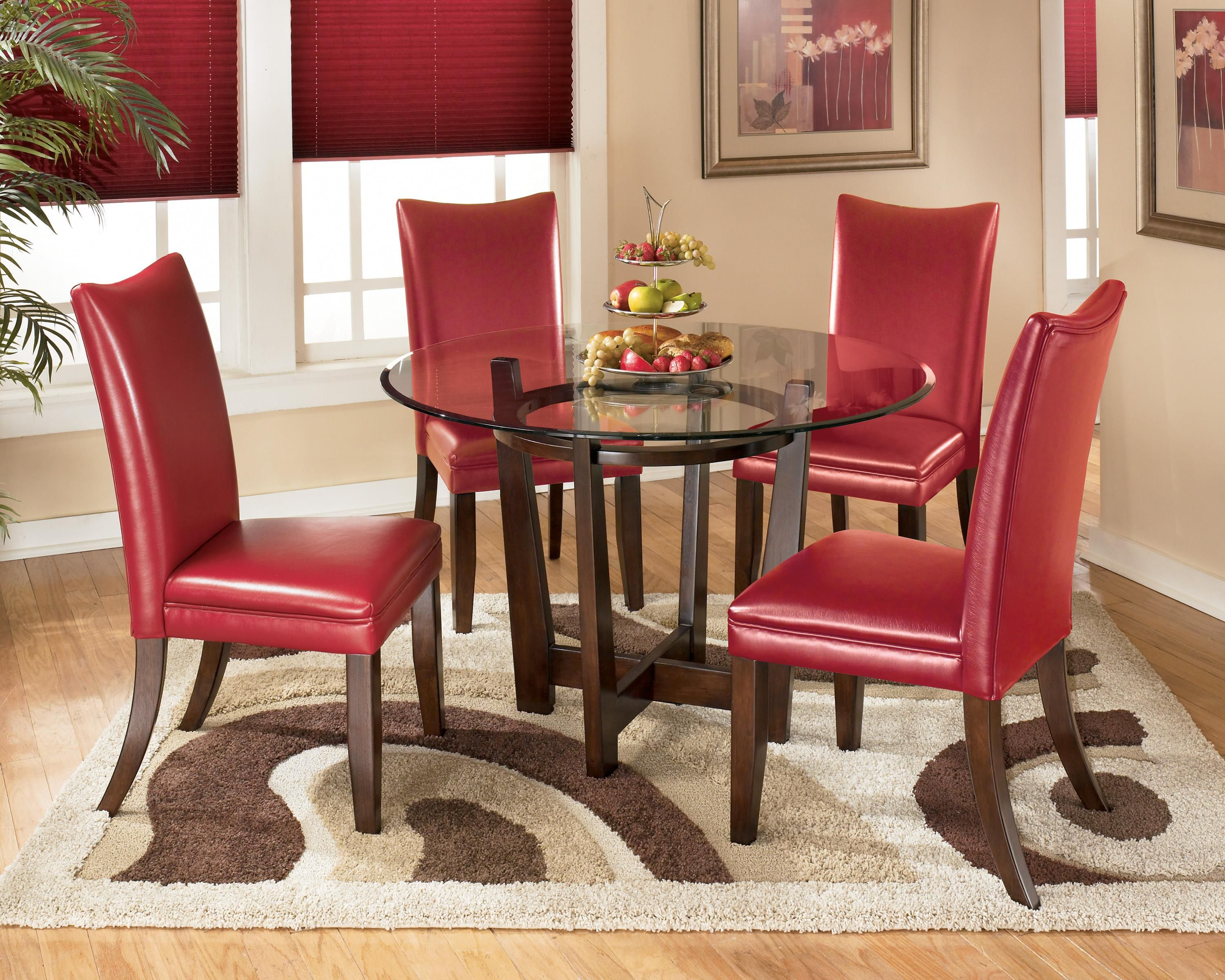 Charrell 5 Piece Round Dining Table Setsignature Design Interesting Ashley Dining Room Table Set Design Ideas