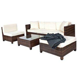 Tectake Conjunto Muebles De Jardín En Poly Ratán Aluminio Color
