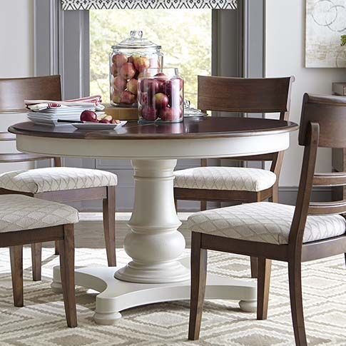 Custom Dining 48 Round Pedestal Table Painted Kitchen Tables Dining Room Furniture Round Wood Dining Table