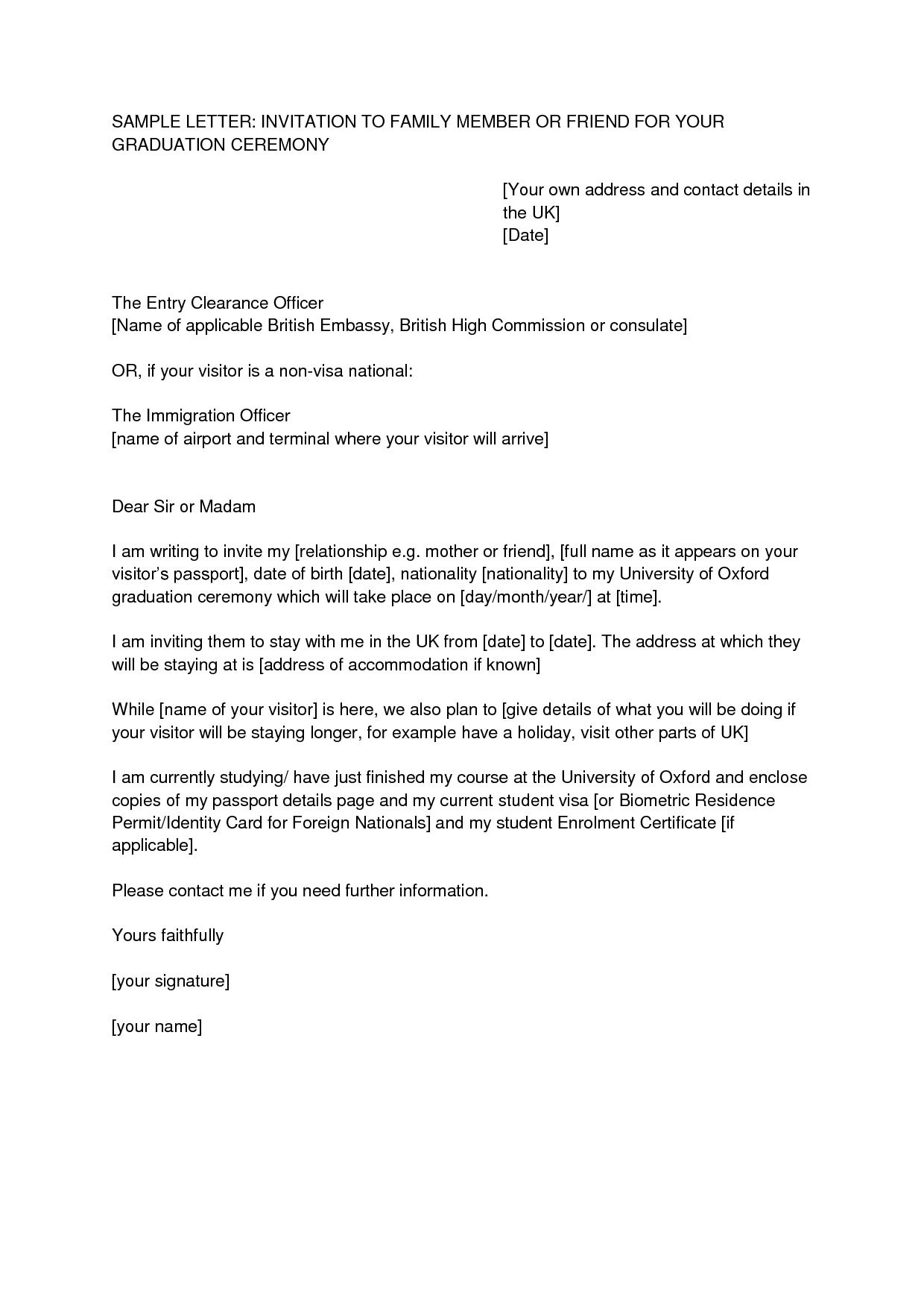 uk visa application letter of