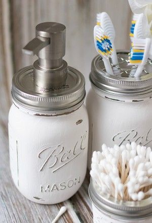 Mason Jar Bathroom Storage & Accessories | Mason jar crafts ... on mason jar gifts for women, mason jar living room, mason jar rugs, mason jar window treatments, mason jar shabby chic, mason jar soap dispenser, mason jar clothing, mason jar dolls, canning jar bathroom decor, mason jar kitchen items, mason jar home, mason jar paint ideas, mason jar tables, mason jar country decorating, mason jar shower curtain, mason jar pillows, mason jar pottery, mason jar line art, mason jar decorate, mason jar kitchen decorations,