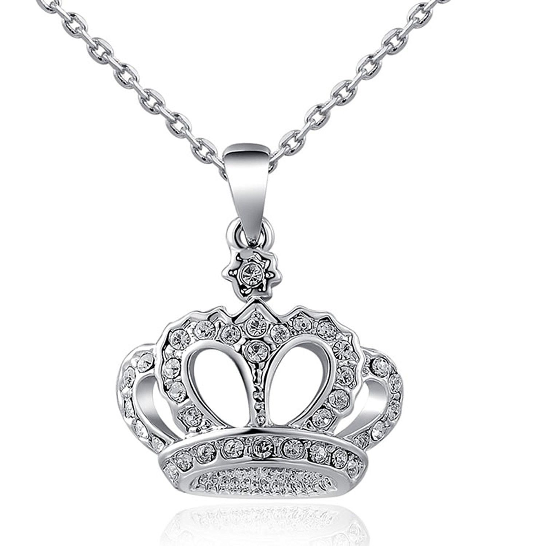 "1//10 Ct Diamant Premium Twist Pendentif en argent sterling 18/"""