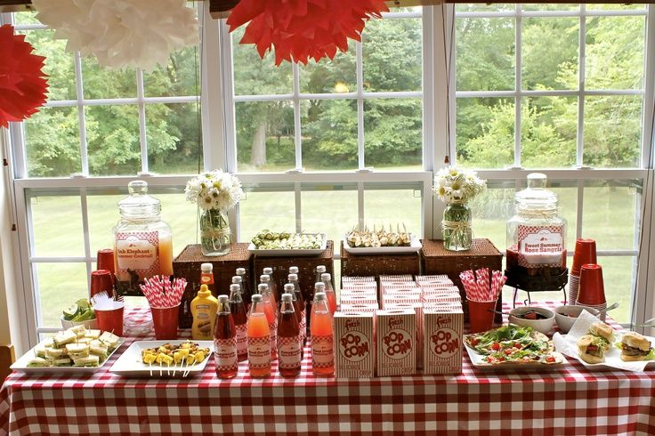 Country Themed Bridal Shower Theme Table Layout