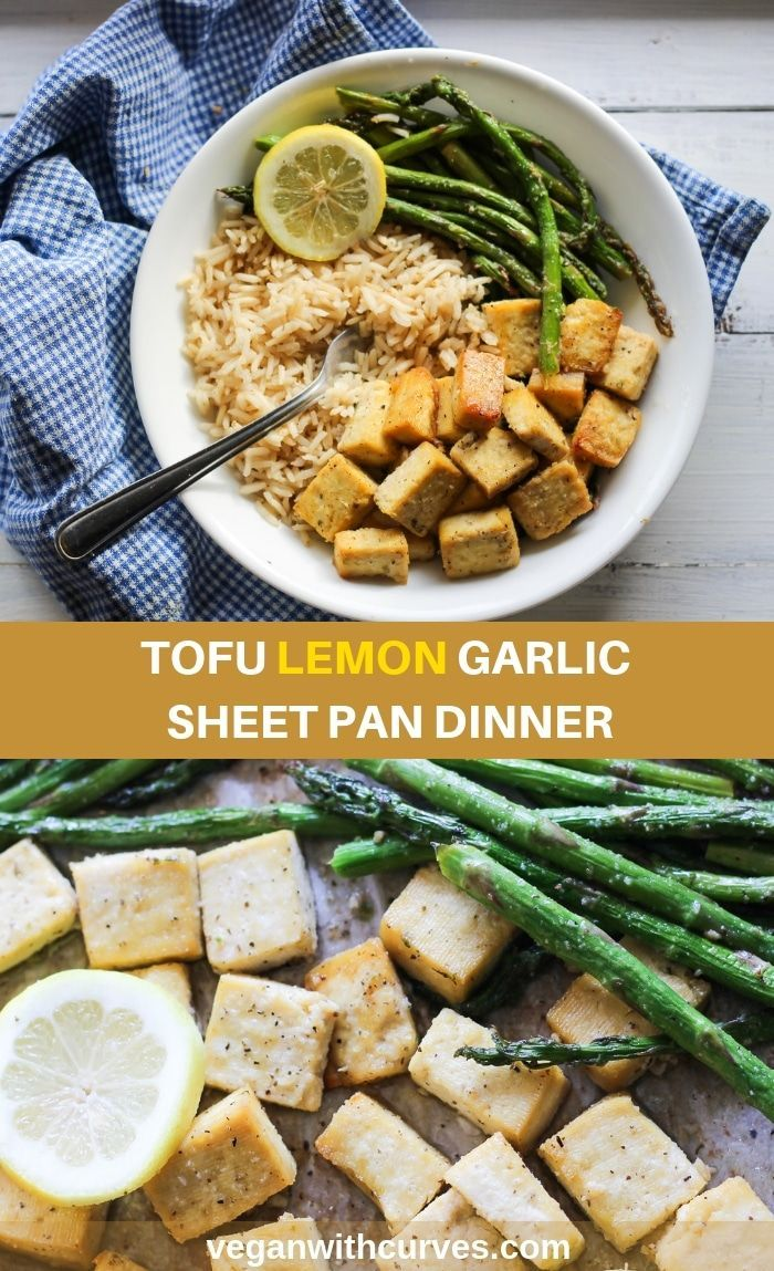 Lemon Tofu Sheet Pan Dinner images