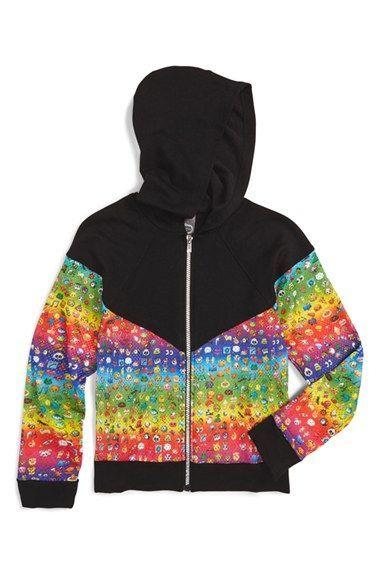 45ac77f3 Zara Terez 'Rainbow Emoji' Hoodie (Big Girls) | Cool Rainbow ...