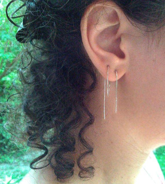 Extra Long Earring 6 Multiple Pierced Ears By Lfishjewelry