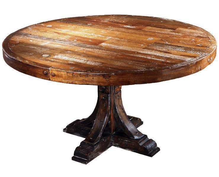 Rustic Round Table Dining Set Home Furniture Ideas Rustic Round Dining Table For Th Round Wood Kitchen Table Reclaimed Wood Round Dining Table Dining Table