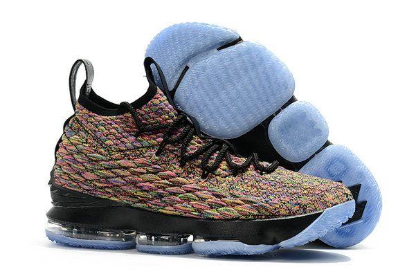 8f2d76ce343 ... Orange Box trainers sports Sneakers. Mens Original Nike LeBron 15  Fruity Pebbles Multi-Color Black White