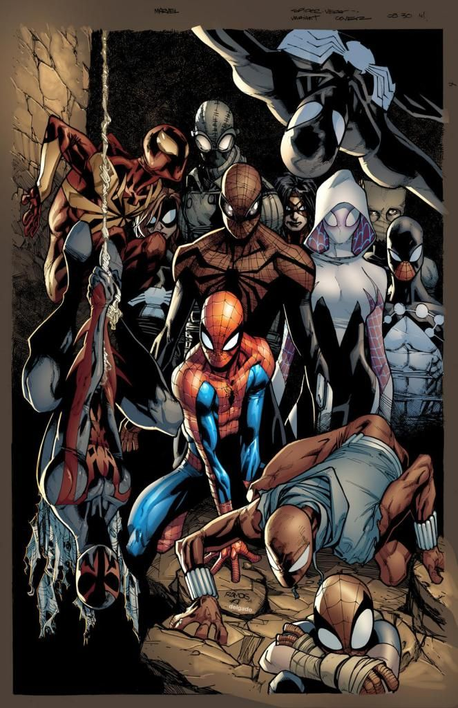 HUMBERTO RAMOS MARVEL THE AMAZING SPIDER-MAN VS VENOM PIN UP ART PRINT SIGNED