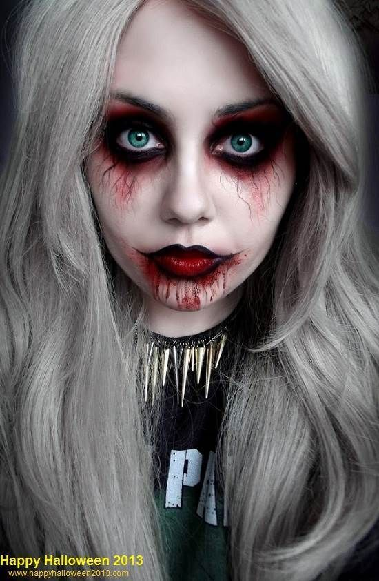 Scary Halloween Makeup Girls USA 2013 Images, Pictures