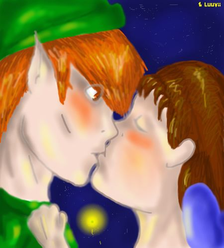 Peter Pan And Tinkerbell Kissing Peter Pan And Wendy Kiss By