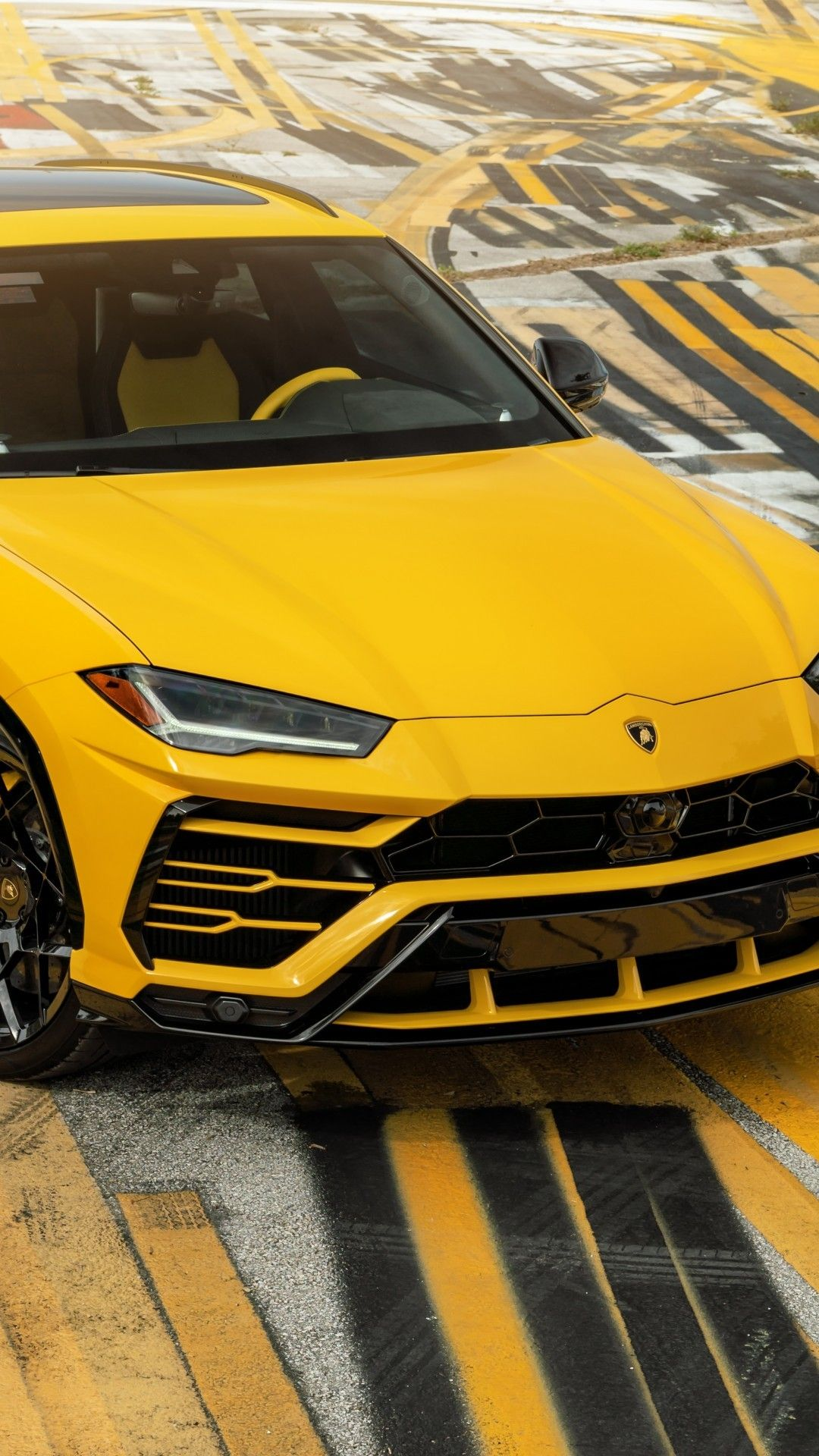 Download 1080x1920 Lamborghini Urus Yellow Suv Cars Wallpapers