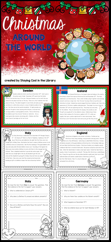 Christmas Around The World Activity Pack