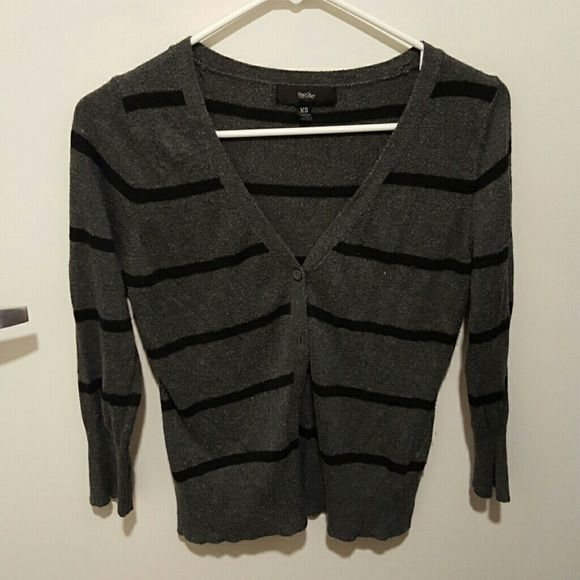 Mossimo grey /black striped cardigan Cute cardi! Mossimo Supply Co Sweaters Cardigans