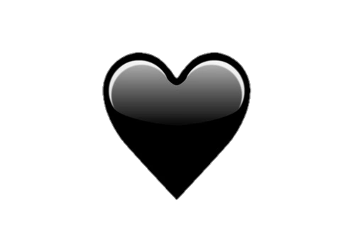Png Tumblr Black Heart Emoji Emoji Wallpaper Iphone Emoji