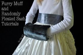 Project Run and Play: Tutorial Part 2- Katy's Avalanche Muff and Sash