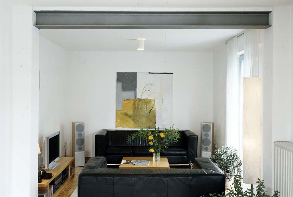 Stahlträger: Statt Einer Wand Schultert Ein Starkes Profil Die ... Wohnzimmer In Wintergarten Haus Renovierung