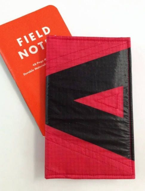 field notes memo cover recycled paraglider logo case planner wallet eco field notes cover fabric