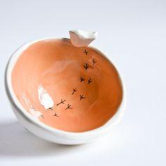 Servieren Keramikschalen in grau, starke Steinzeug Schalen für den täglichen Gebrauch, moderne Geschirr Geschenk-Set, handgemachte Keramik Schalen, Servierschüssel set #smallbirds