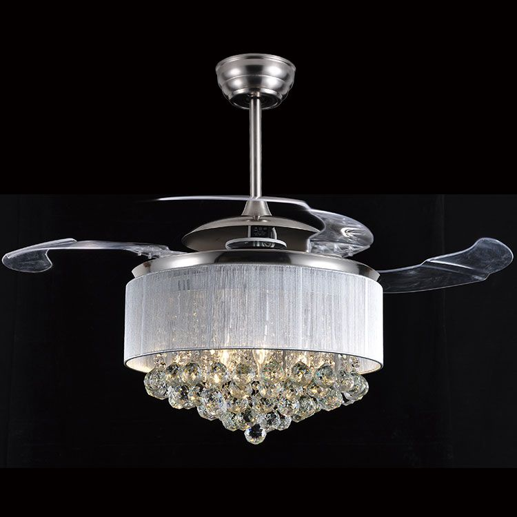 Led Ceiling Fan Light Dining Room Ceiling Fan Crystal Invisible