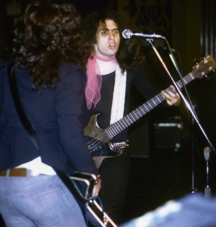 Paul Stanley & Gene Simmons rehearsing for their 1973 NYE show.