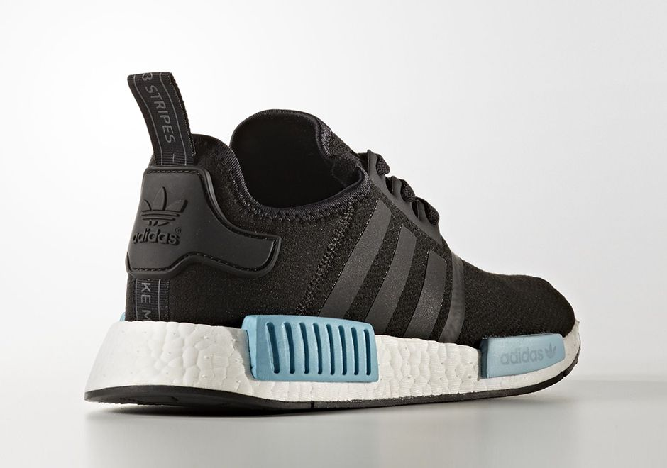 Adidas nmd r1 black and icy blue | Shoes!!! | Shoes