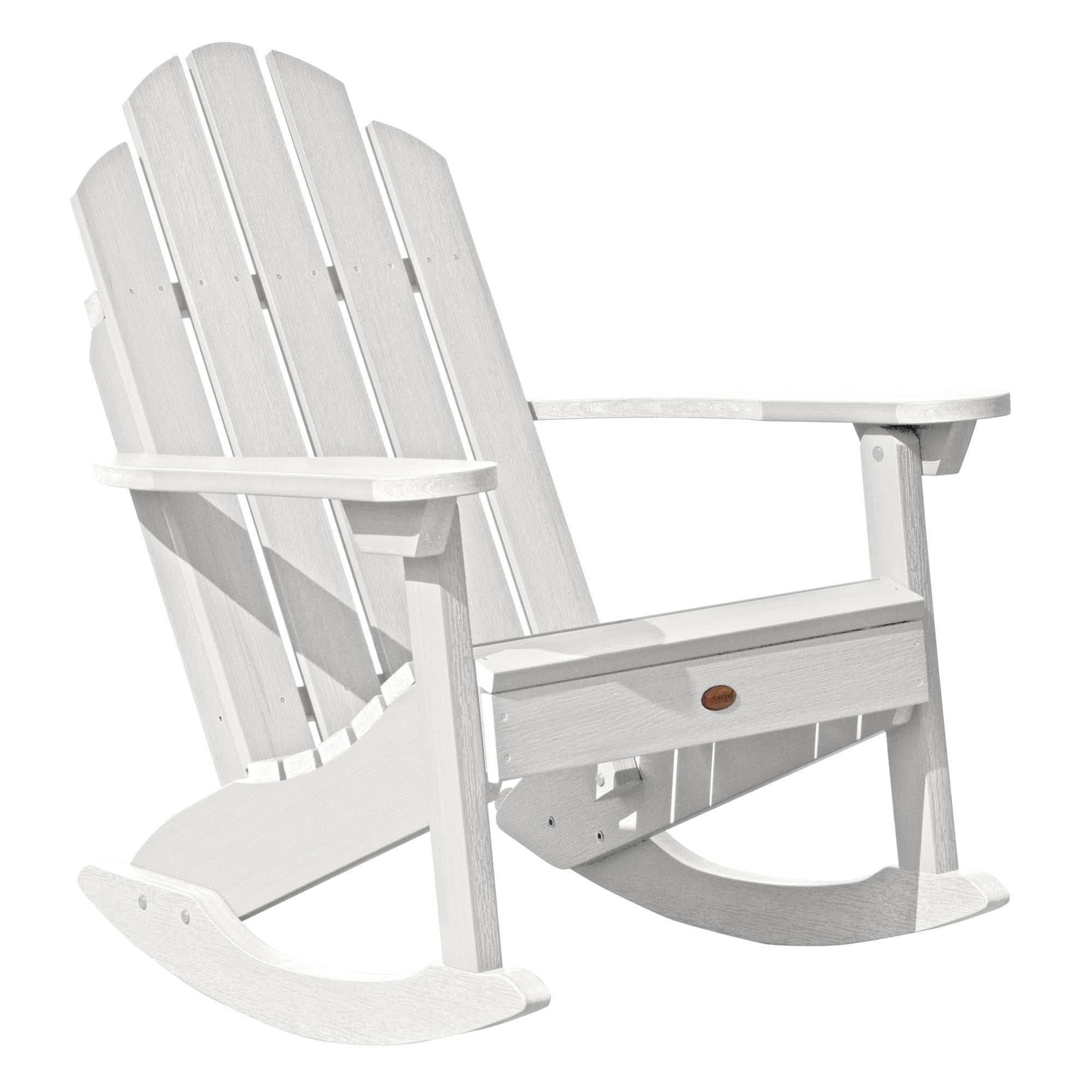target white rocking chair folding wood oliver and james classic westport adirondack patio furniture